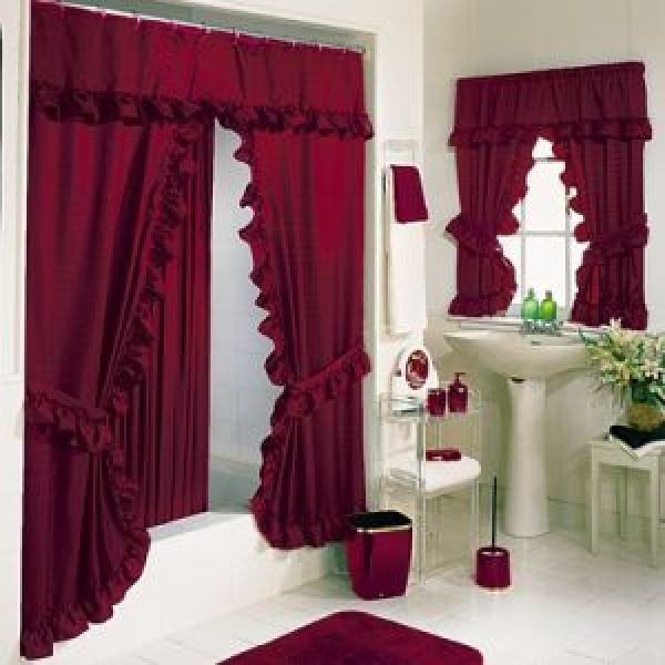 tiara deluxe double swag shower curtain
