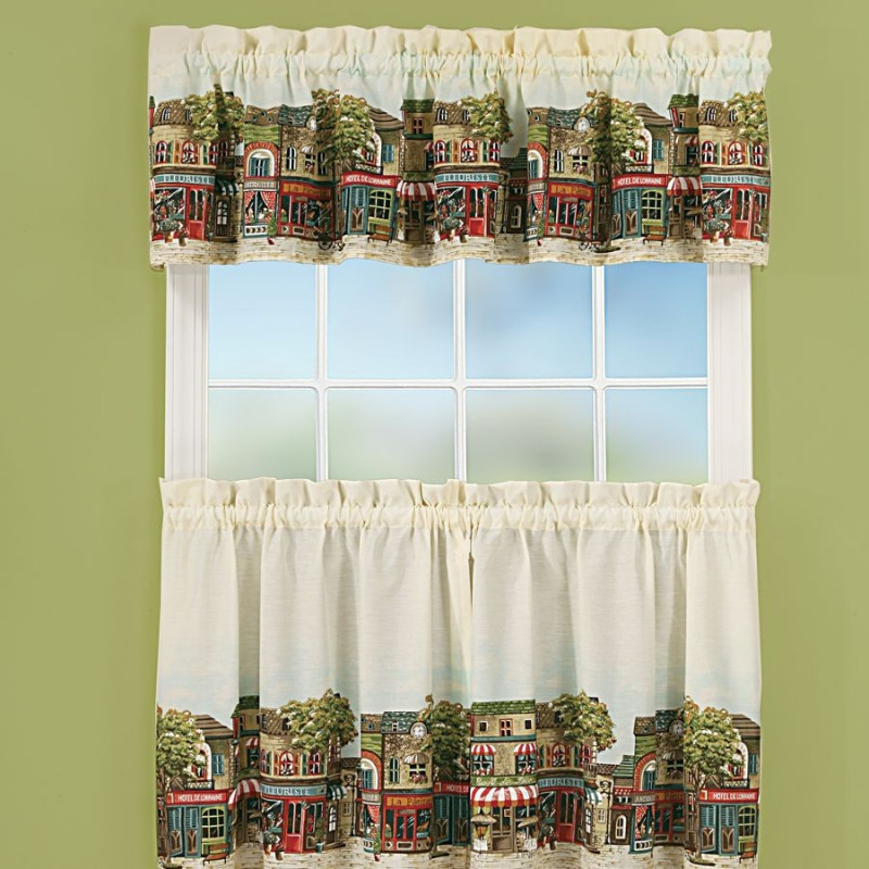 French Cafe Kitchen Curtains  CurtainDraperycom