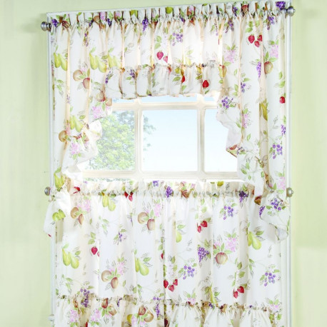 fruit kitchen curtains industrial pendant lighting for summer curtain drapery com