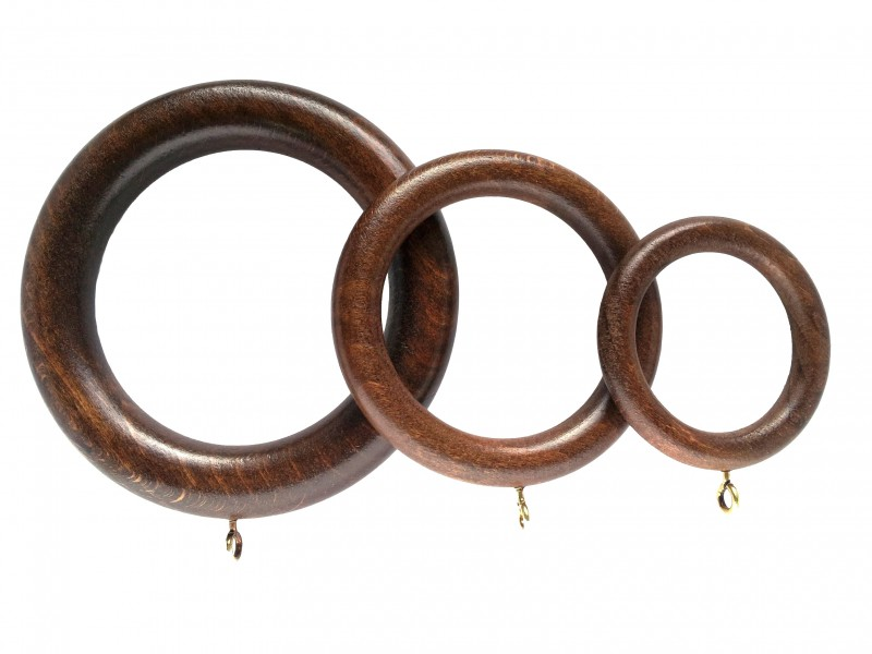 wooden curtain rings pack of four painted stained