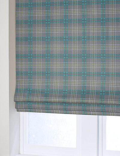 Curtain Check Tealgrey  Next Made To Measure