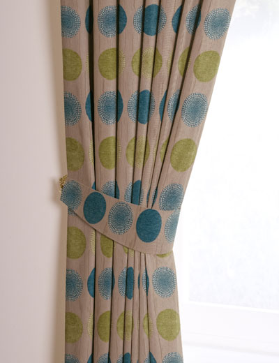 Tieback Details For ARNEZ TEAL LIME Curtain Express
