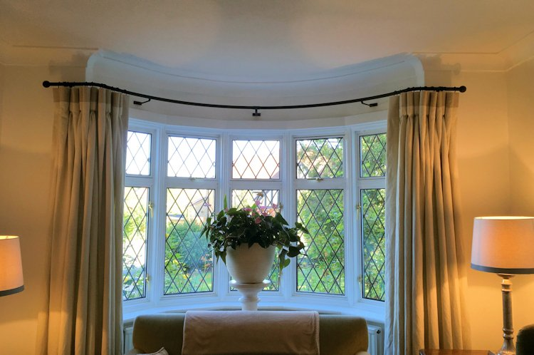 curtain poles for your bay window