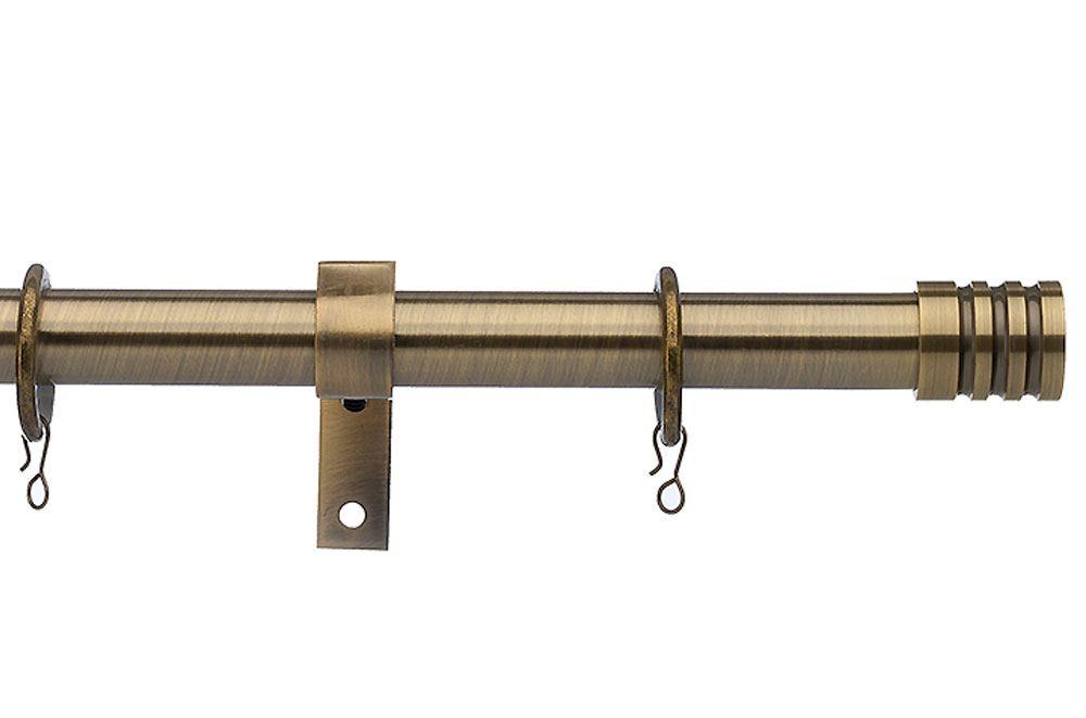 universal 28mm barrel antique brass metal curtain pole