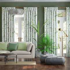 Green Curtains For Living Room Colors With Beige Furniture Alyssa Linen Leaf 36 Curtain 1 Jpg