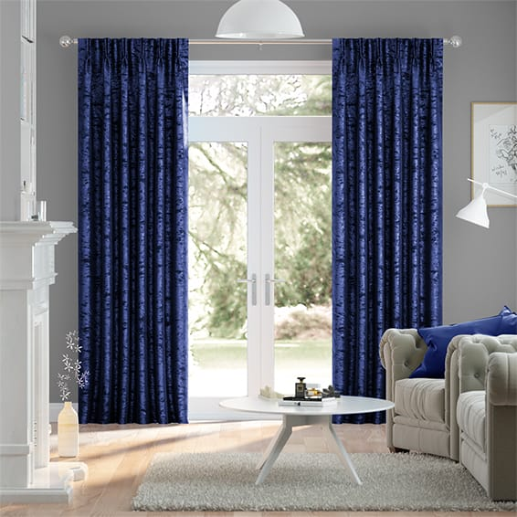 Navy Crushed Velvet Curtains Stunning Blue Velvet Curtains 2go