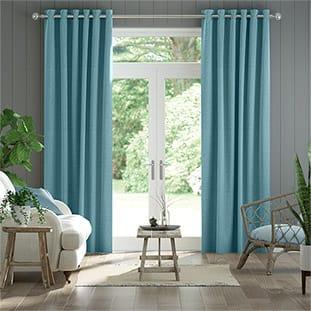 teal blue living room curtains versace design 2go duck egg navy more paleo linen delft thumbnail image