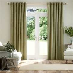 Green Curtains For Living Room How To Arrange Furniture In A With Two Focal Points 2go Light Mid Dark Tones Smooth Sisal Gold Thumbnail Image