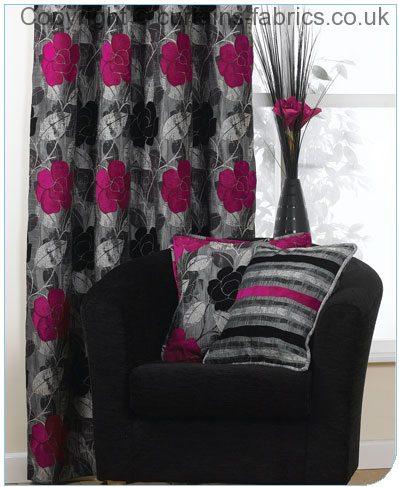 COLLETTE By BILL BEAUMONT TEXTILES In Curtains In Collette Fuchsia
