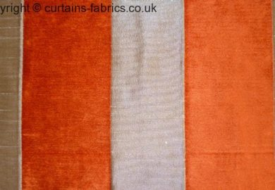 Orange And White Damask Curtains