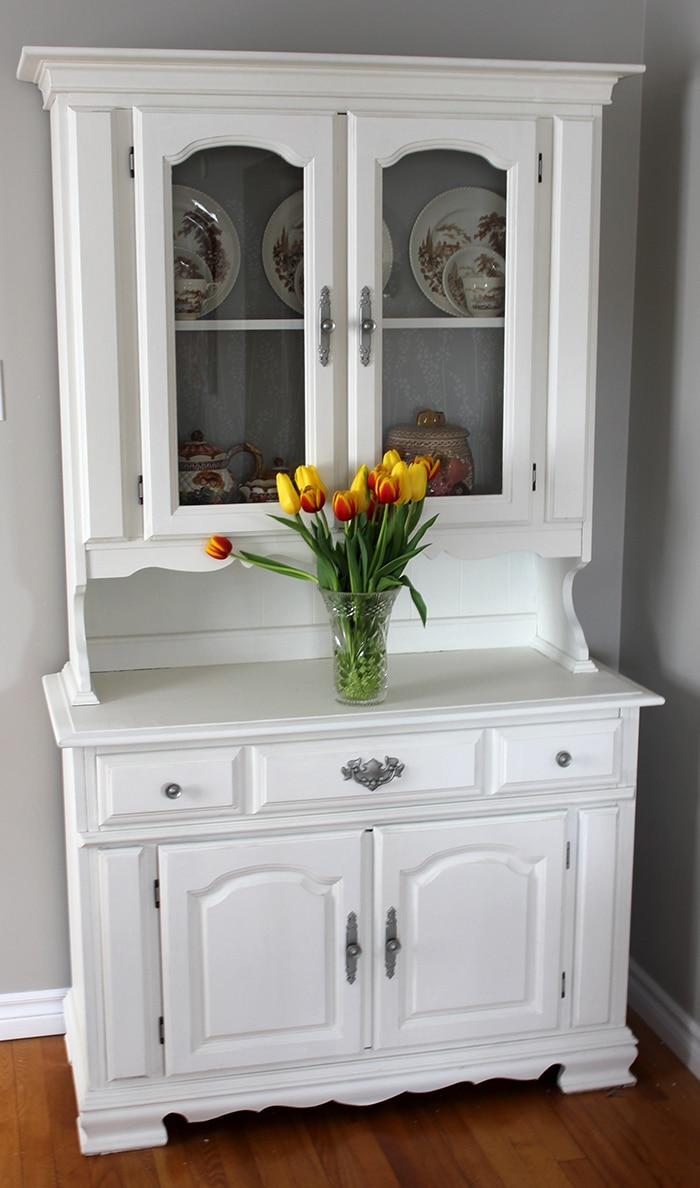 How to Paint a China Cabinet DIY  Curtains are Open