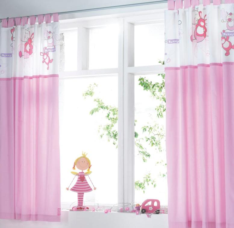 Baby Girl Curtains using soft voile and butterflies