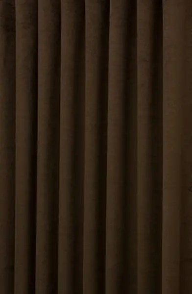 Hilton Velvet Dark Brown Made To Measure Curtains