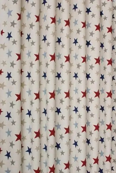 Funky Star Blue  Made to Measure Curtains