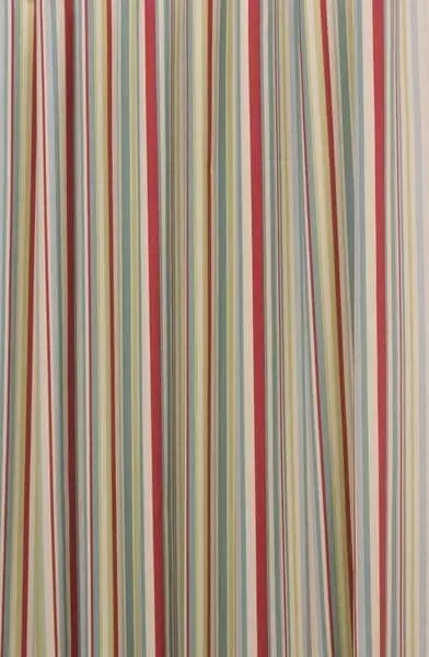 Funky Stripe Duck Egg Curtain Fabric