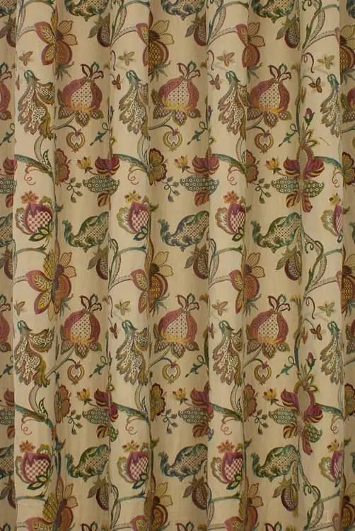 Jacobean Multi  Curtain Fabric