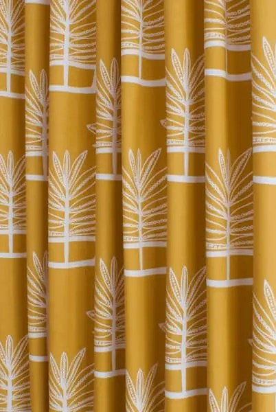 Valja Ochre  Made to Measure Curtains