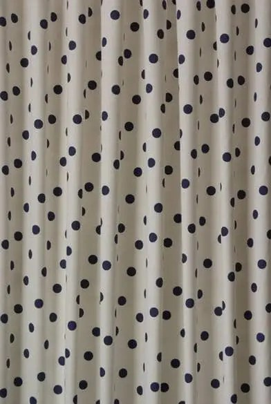 Polka Dot Navy Made To Measure Curtains