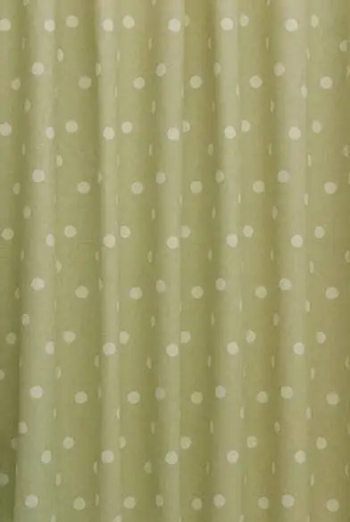 Polka Dot Sage Curtain Fabric