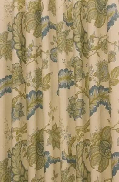 Jacobean Blue Curtain Fabric