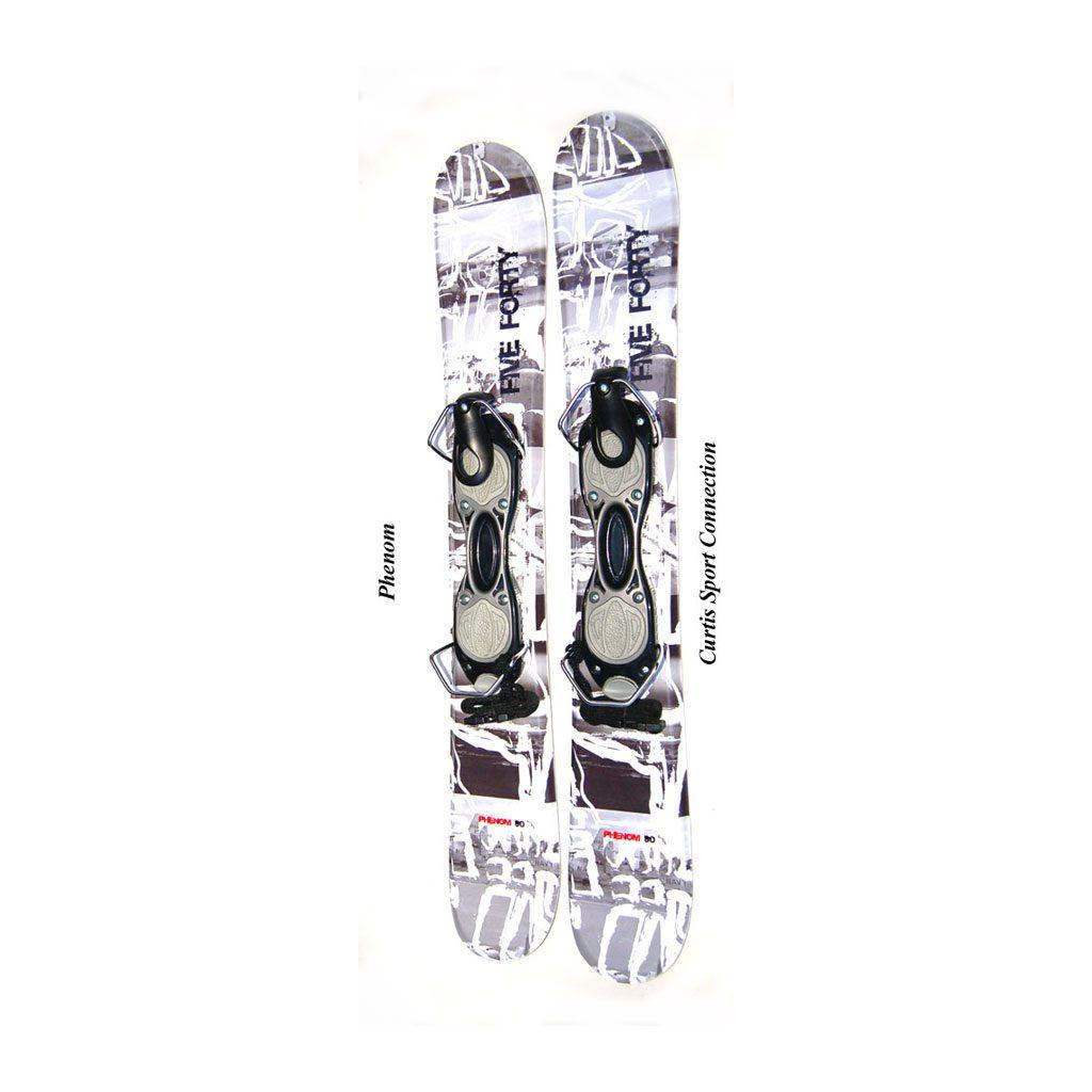 Snowblades Phenom 90 Non Release Snowjam White Silver