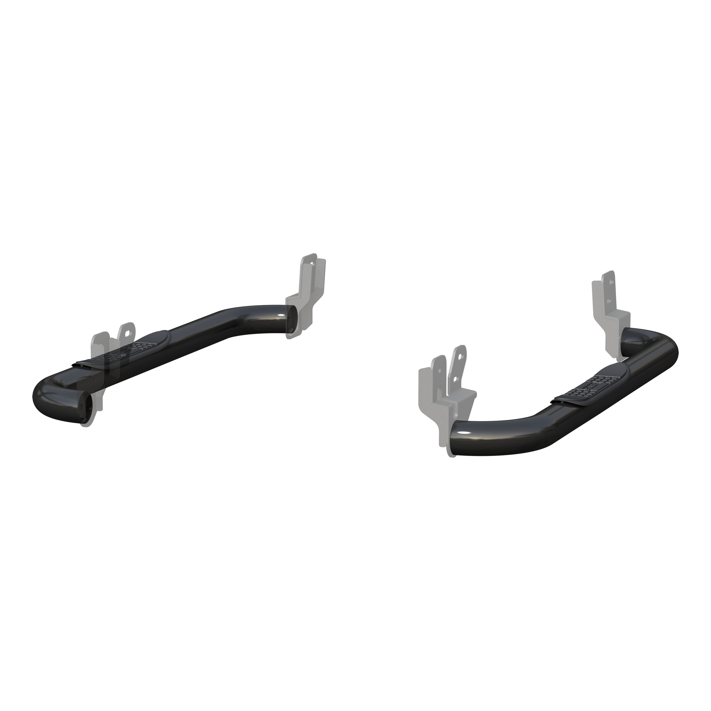Aries Black 3 In Round Side Bars For 16 Ram