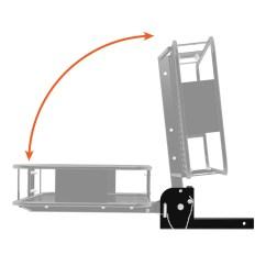 Trailer Hitch Chair 2000 Honda Civic Ignition Wiring Diagram Mount Folding Cargo Rack Basket Carrier 60 X