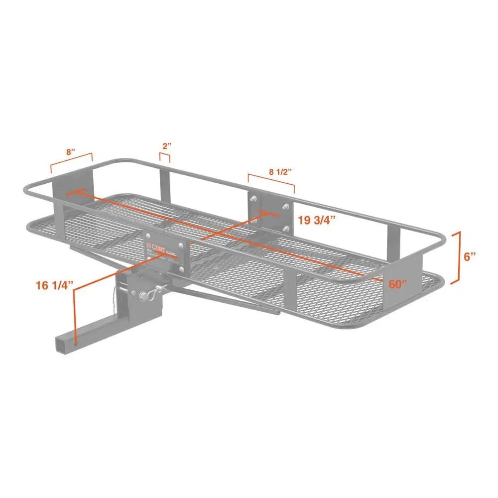 trailer hitch chair pir motion sensor wiring diagram curt mount folding cargo rack basket carrier
