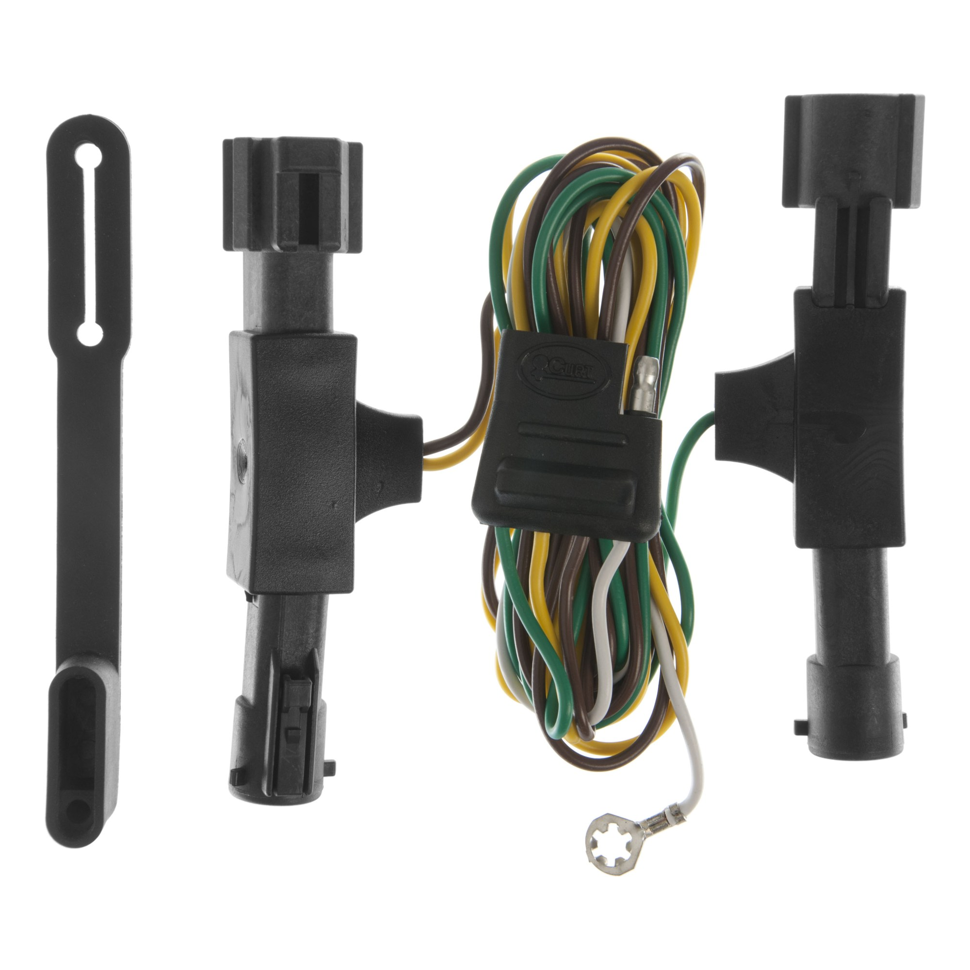 hight resolution of curt custom vehicle to trailer wiring harness 55350 for 1992 1996 ford bronco