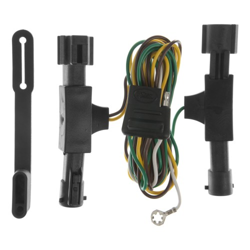 small resolution of curt custom vehicle to trailer wiring harness 55350 for 1992 1996 ford bronco