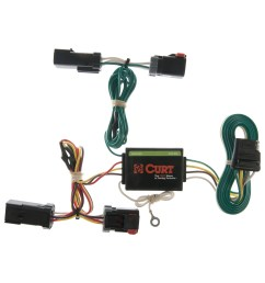 curt custom vehicle to trailer wiring harness 55382 for 2002 2007 jeep liberty [ 3008 x 3008 Pixel ]