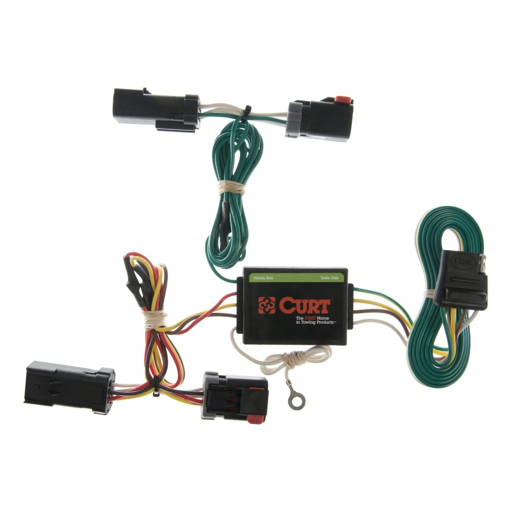 medium resolution of curt custom vehicle to trailer wiring harness 55382 for 2002 2007 jeep liberty