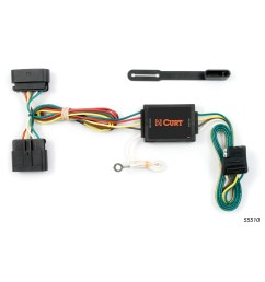 curt 55510 vehicle to trailer wiring for chevy colorado gmc canyon 2011 chevrolet silverado curt tconnector vehicle wiring harness for [ 3008 x 3008 Pixel ]