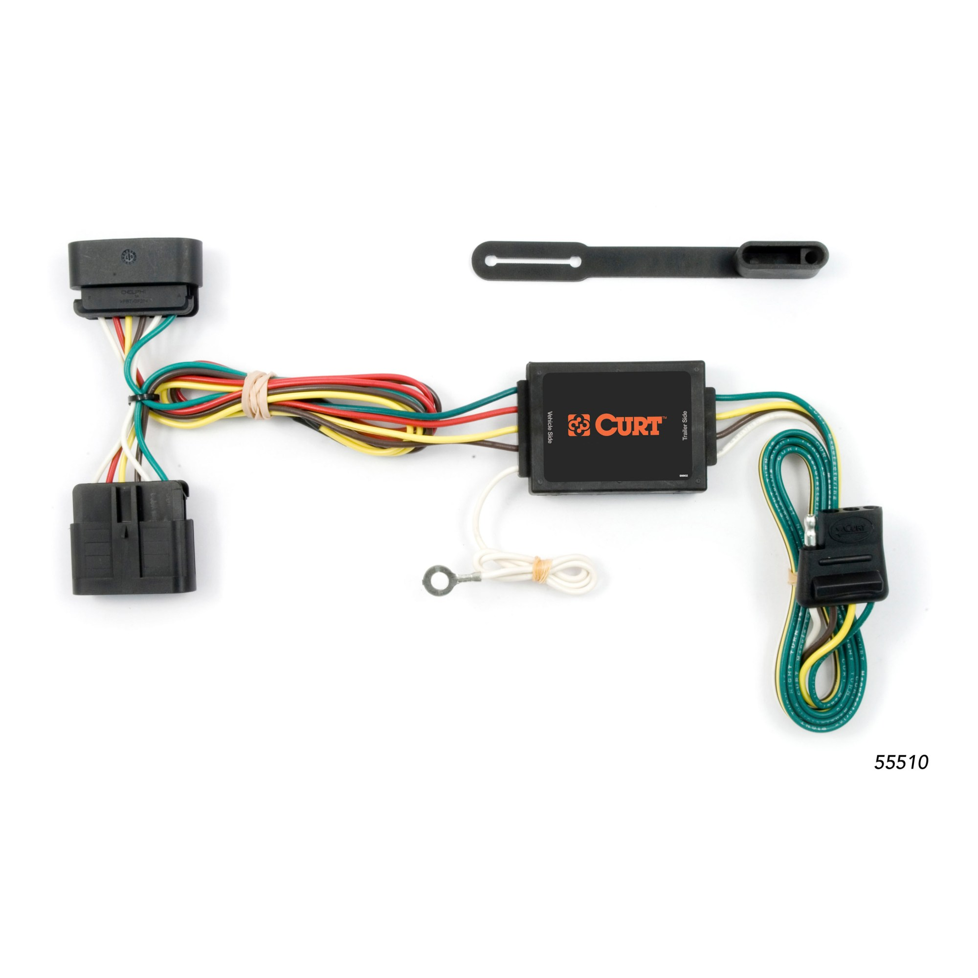 hight resolution of curt 55510 vehicle to trailer wiring for chevy colorado gmc canyon 2011 chevrolet silverado curt tconnector vehicle wiring harness for