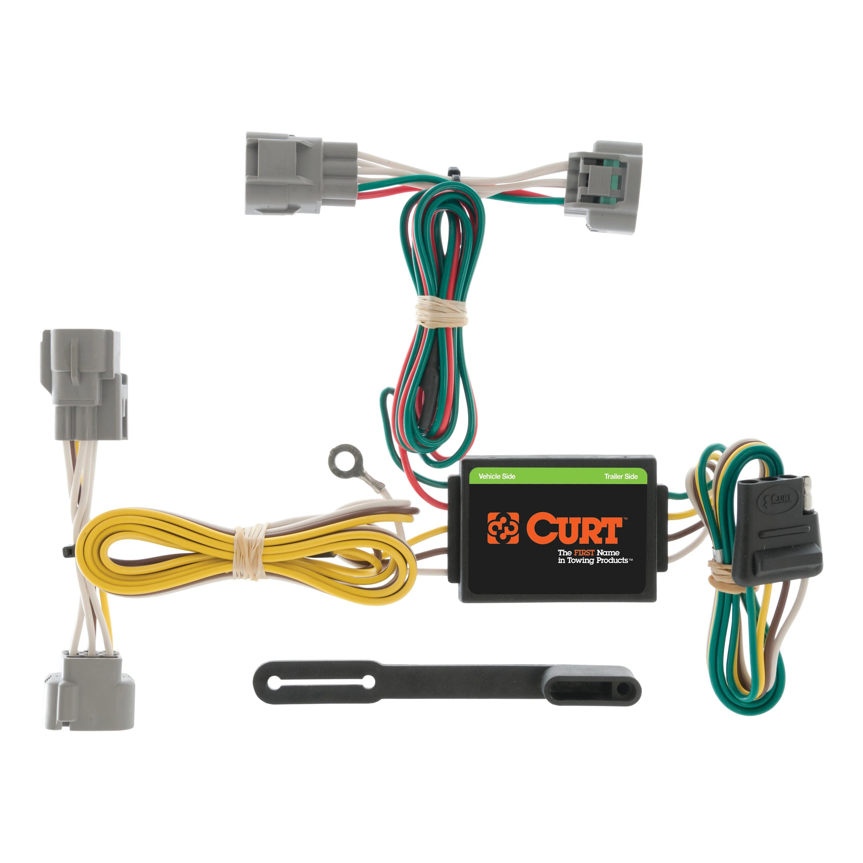 4 way flat light connector wiring diagram sonos connect curt vehicle to trailer harness 55513 for toyota