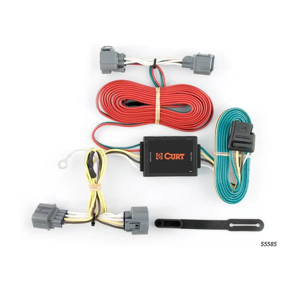 medium resolution of curt custom vehicle to trailer wiring harness 55585 for 06 14 honda ridgeline