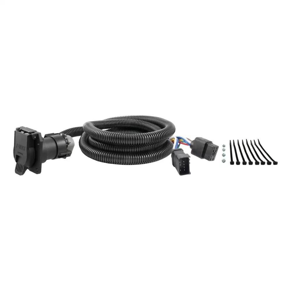 hight resolution of curt 56071 7 way wiring harness extension for dodge ram dakota