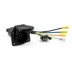 Curt 7 Way Rv Blade Wiring Diagram Sony Cdx Gt110 4 Flat To Round Adapter Ebay