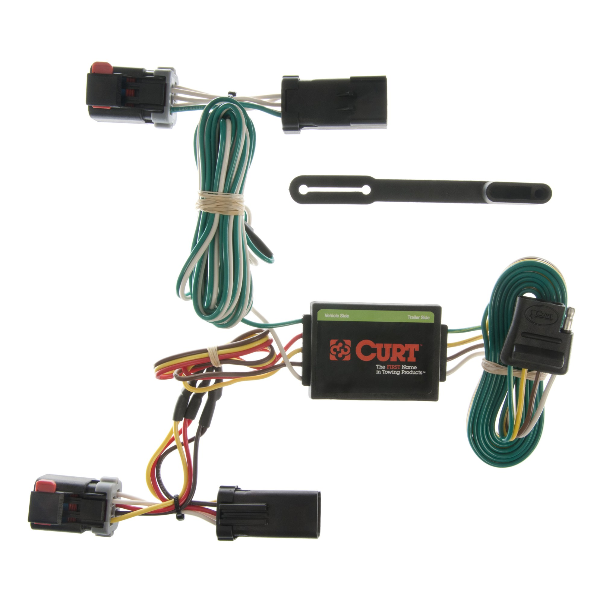 hight resolution of custom wiring harness 4 way flat output 55334