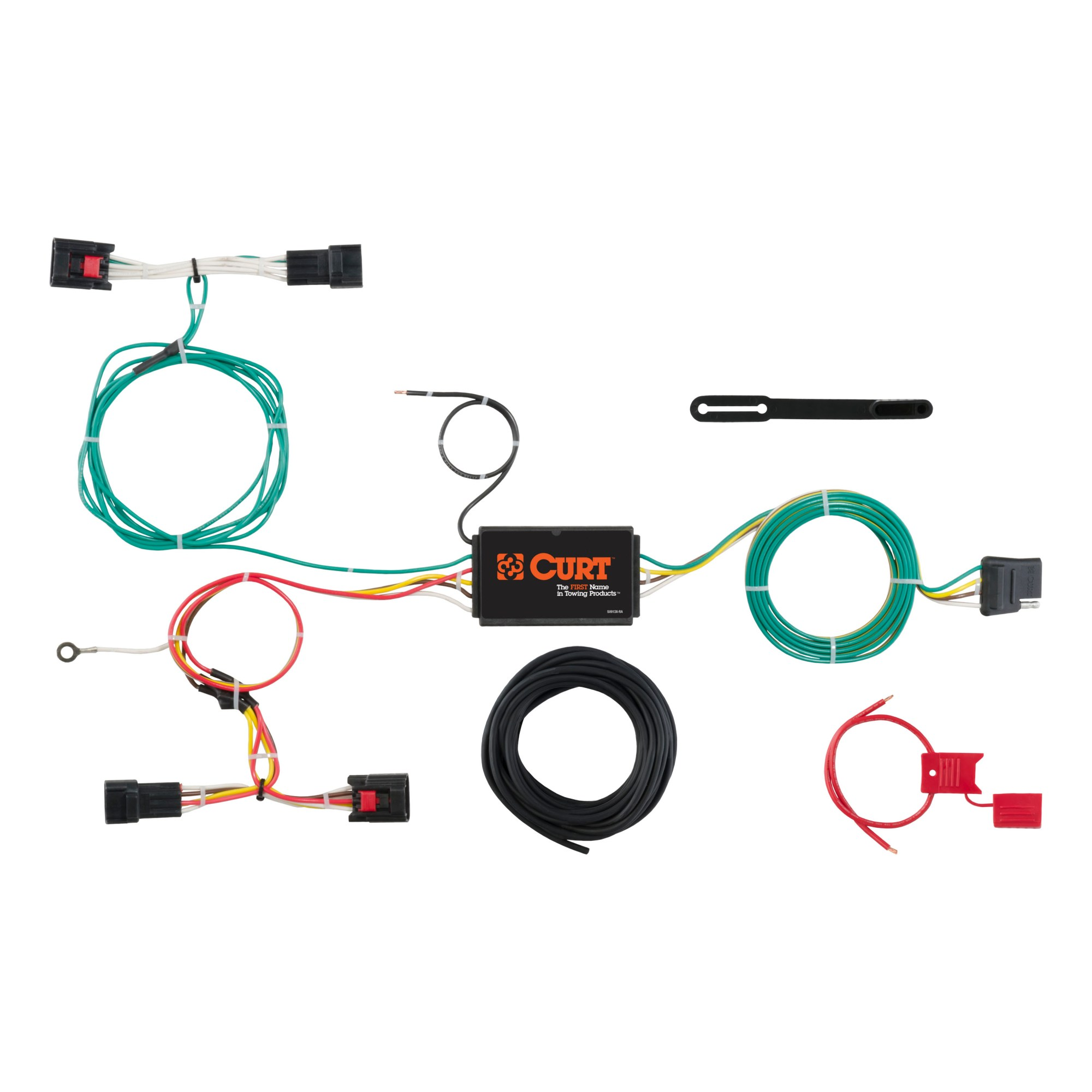 hight resolution of custom wiring harness 4 way flat output 56297