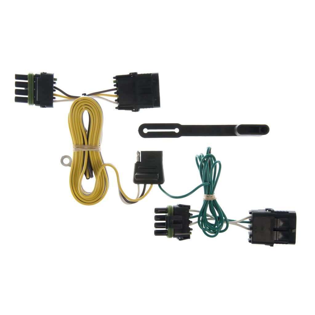 hight resolution of custom wiring harness 4 way flat output sku 55356 for 33 56 by 2014 jeep wrangler curt tconnector vehicle wiring harness with 4pole