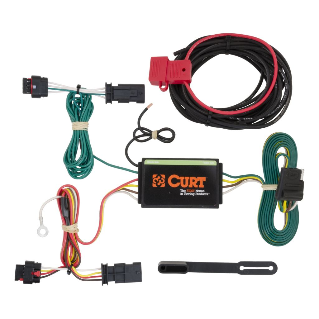 hight resolution of custom wiring harness 4 way flat output 2012 chevy traverse trailer wiring harness