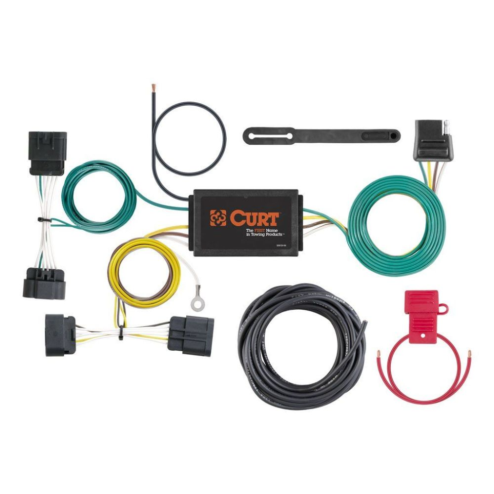 medium resolution of custom wiring harness sku 56198 for 73 93 by curt manufacturing 20142015 dodge durango trailer wiring kit tconnector powered