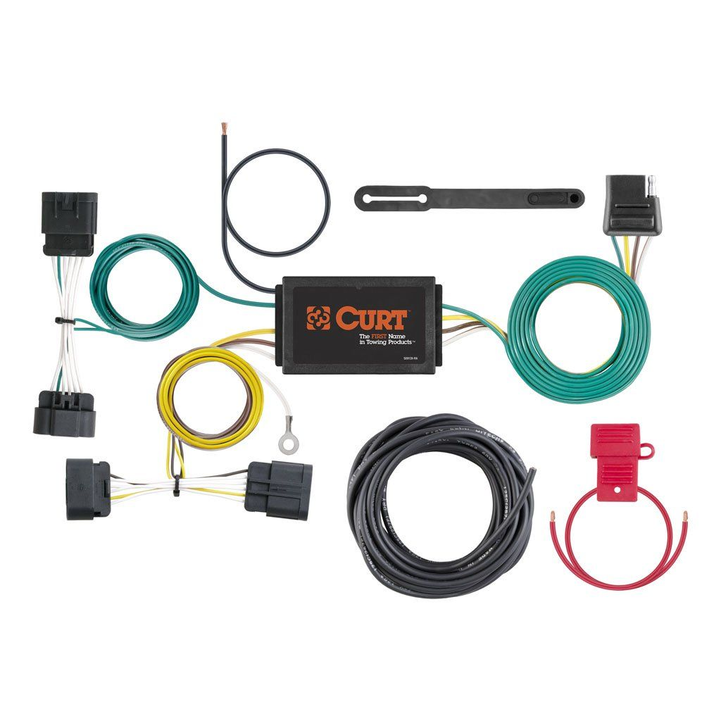 hight resolution of custom wiring harness sku 56198 for 73 93 by curt manufacturing 20142015 dodge durango trailer wiring kit tconnector powered