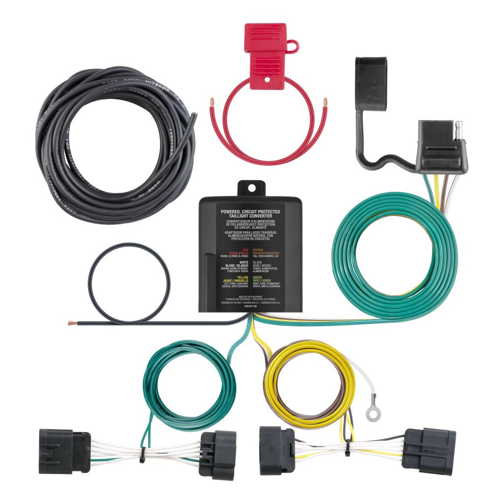 hight resolution of custom wiring harness 4 way flat output sku 56336 for 75 77 by converter wiring kit for battery powered tail light converters camper