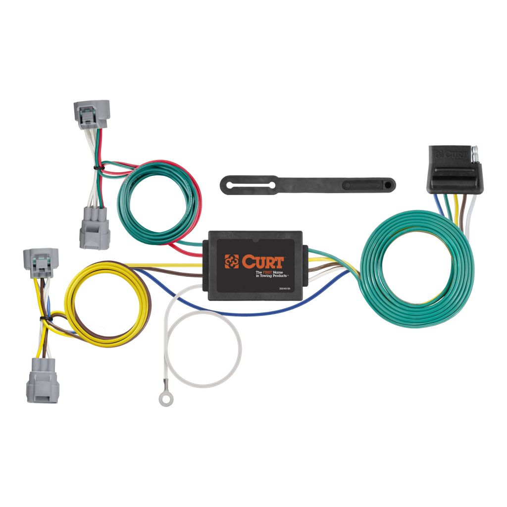 hight resolution of custom wiring harness 5 way flat output sku 56513 for 79 44 by curt tconnector toyota tacoma t100 trailer wiring harness 56513