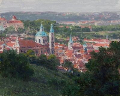 View of Little Quarter Church of St. Nicholas Prague