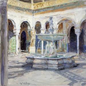 The Main Patio, House of Pilate, Seville by Curt Walters