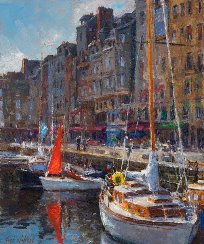 The Red Sail, Honfleur