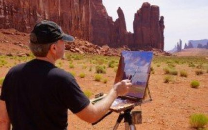 Curt Walters painting Rain God Mesa